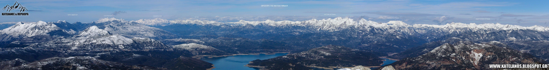 οροσειρα νοτια πινδος πανοραμα χειμερινη φωτογραφια