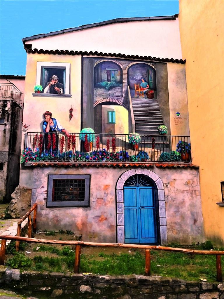 Satriano Di Lucania Murales.La Valle Piu Dipinta D Italia Inaugurati 9 Murales Nel