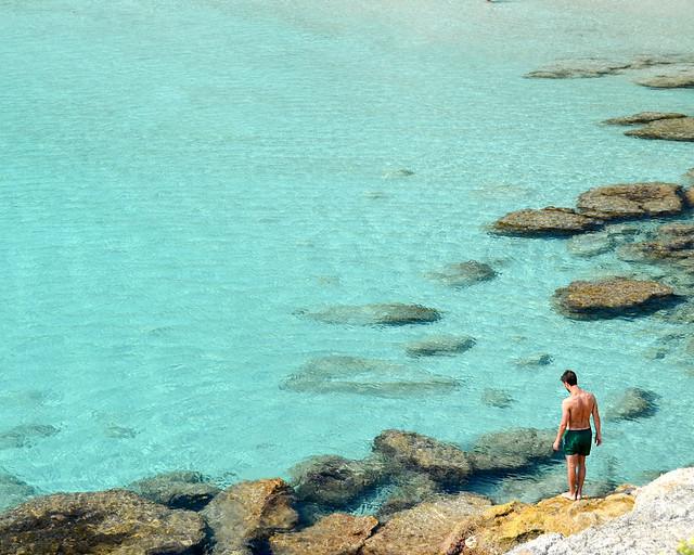 Aguas transparentes de las playas de Menorca