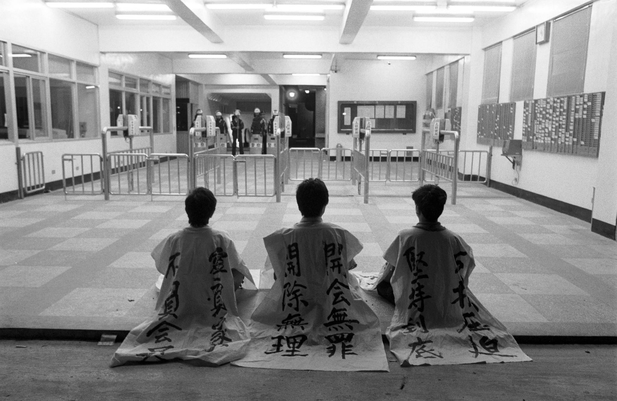 1989年5月,由羅美文、曾國煤、徐振坤在遠化工會的帶領下,發動的台灣戰後第一場罷工運動。(攝影:蔡明德)