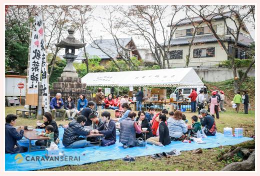 秋葉神社のお祭り 愛知県瀬戸市 炊き出し風景
