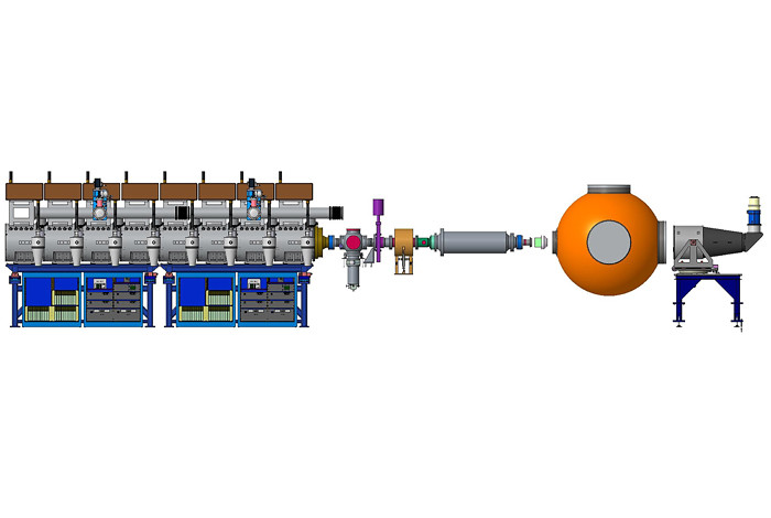 An abbreviated concept illustration shows a portion of the ASD accelerator and target vessel.