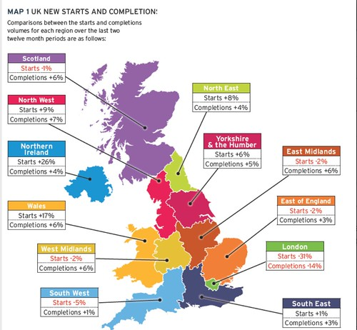 Map Of London North South East West.The New North South Housebuilding Divide