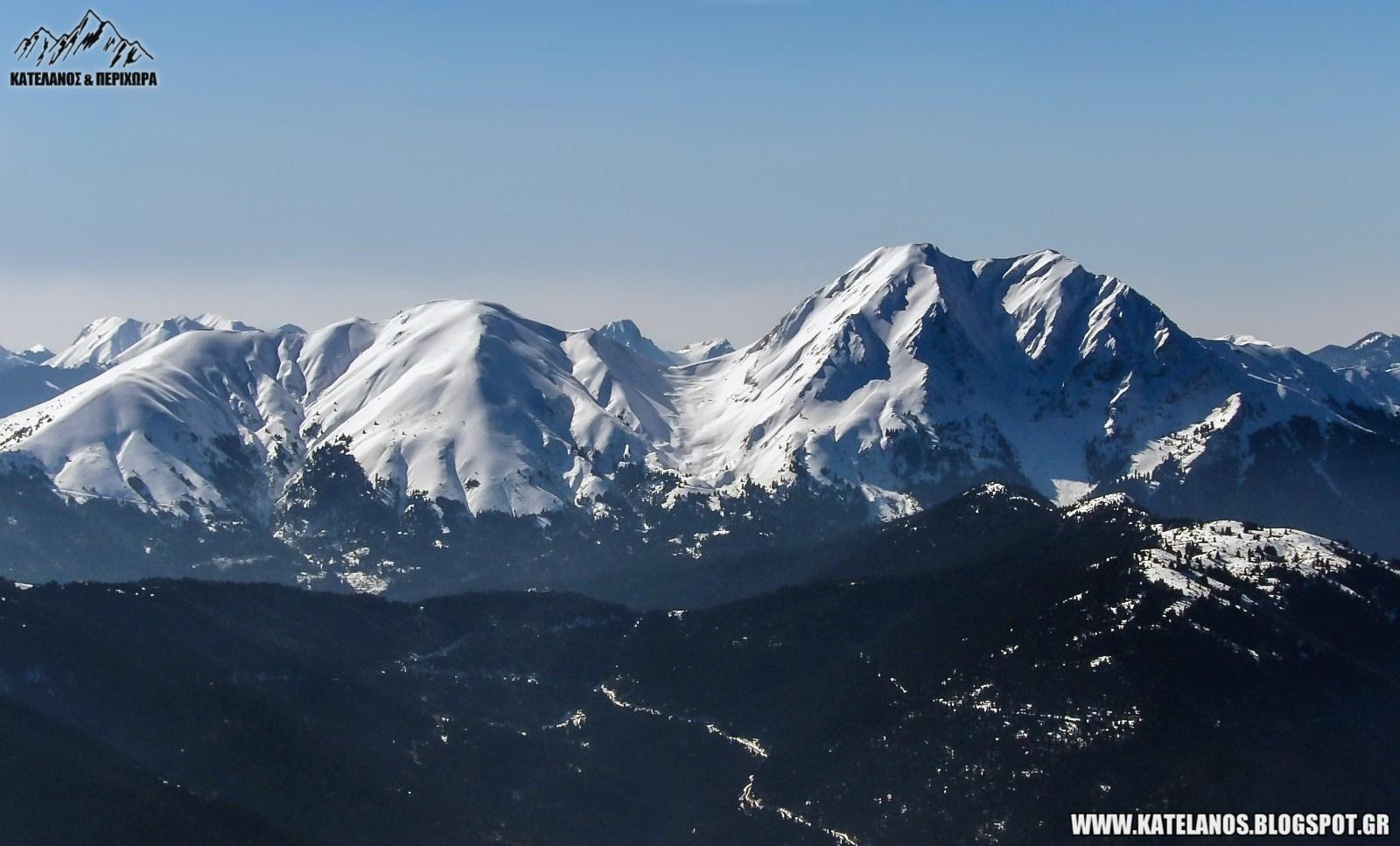 καλιακουδα ευρυτανιας βουνο βόρεια πλευρά χιόνια