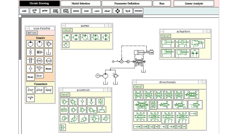 Bathfp simulation software user interface