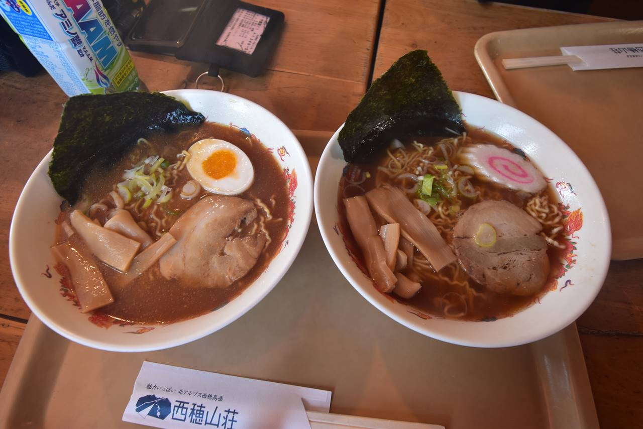 西穂ラーメン(味噌・しょうゆ)