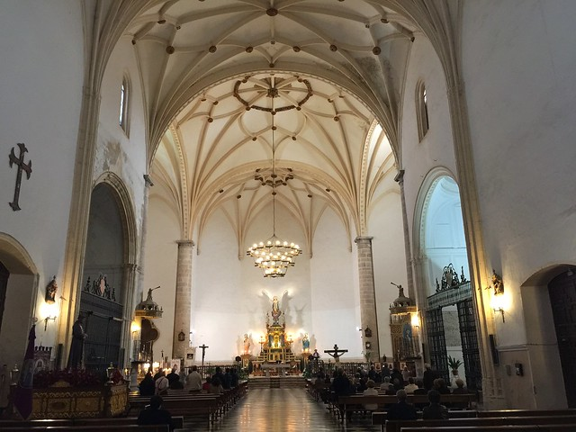 Interior de la iglesia de la Asunción de Tembleque (Toledo)