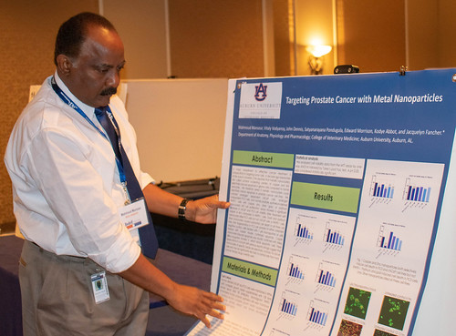 Dr. Mahmoud Mansour displays his research poster.