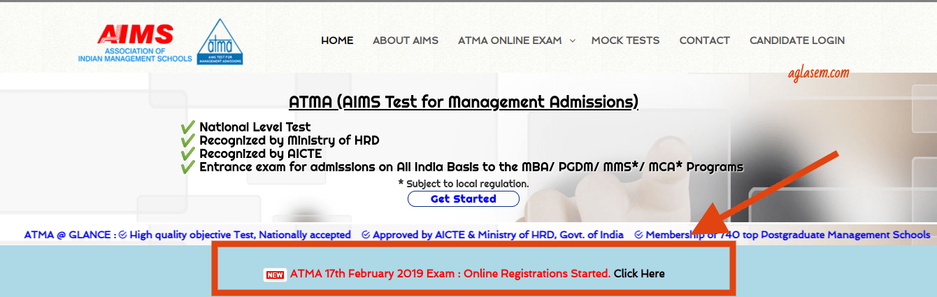 ATMA February 2019 Registration Started; 5 key points to know before you apply