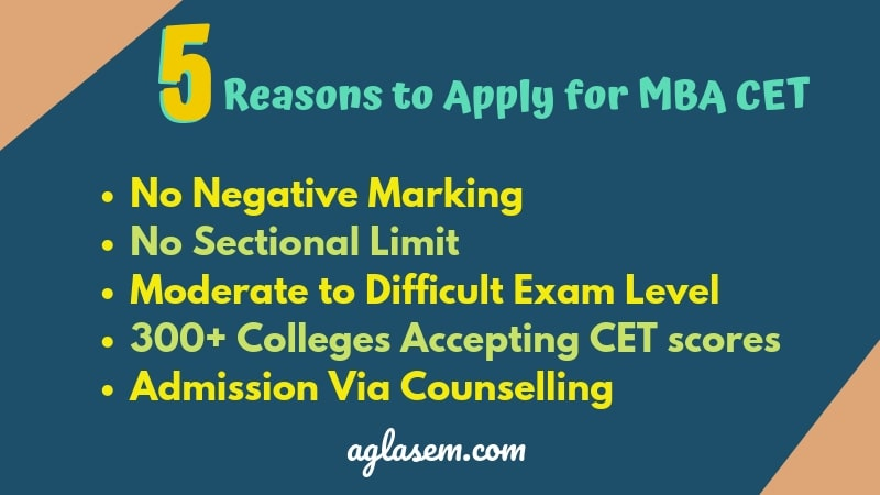 5 REASONS TO APPLY FOR MBA CET 2019