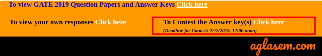 GATE 2019 Answer Key Objection Window Started; Check Here Step-by-Step Instructions to Submit Objection