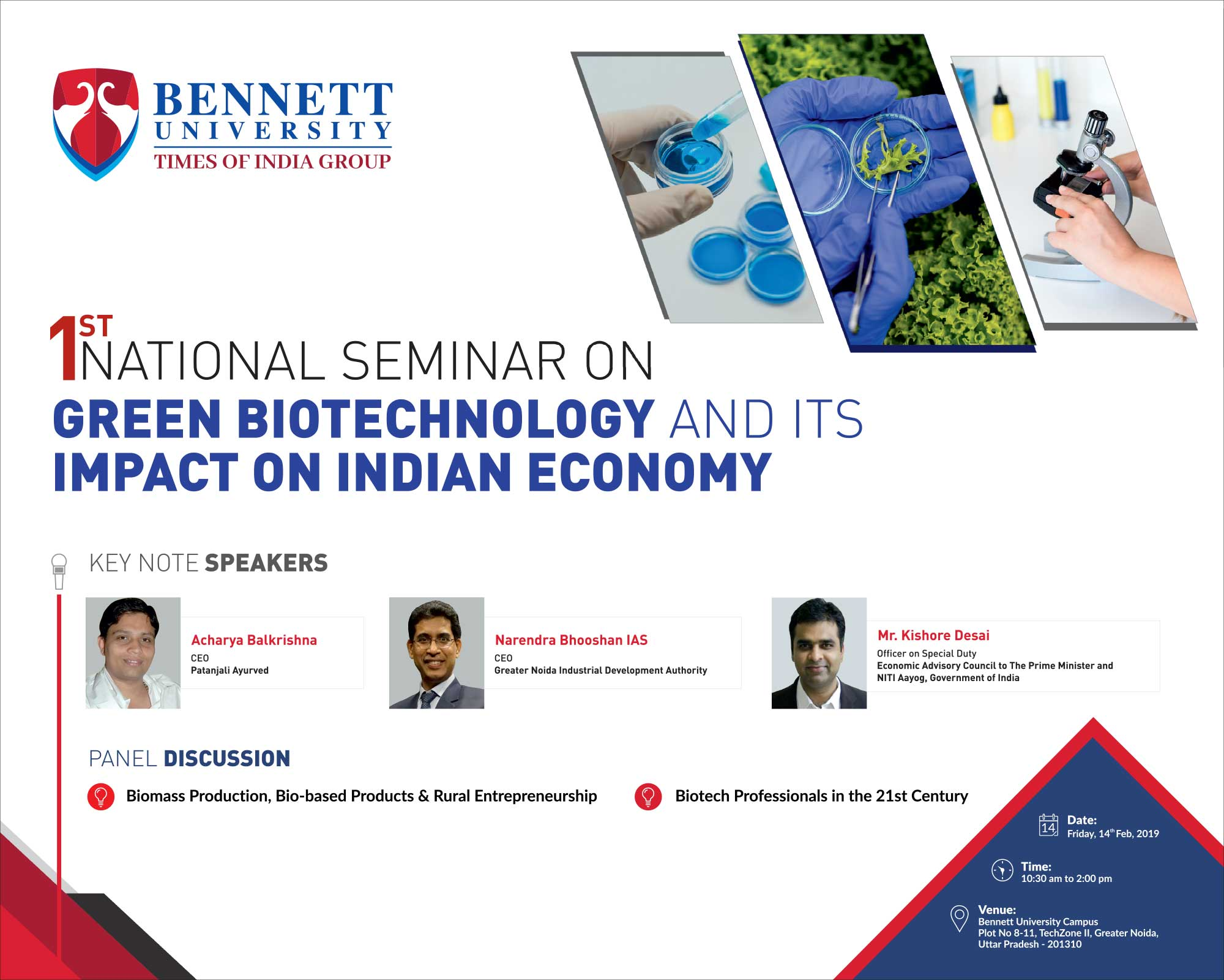 "Bennett University Conducting Seminar On ""Green Biotechnology And Its Impact On Indian Economy"""