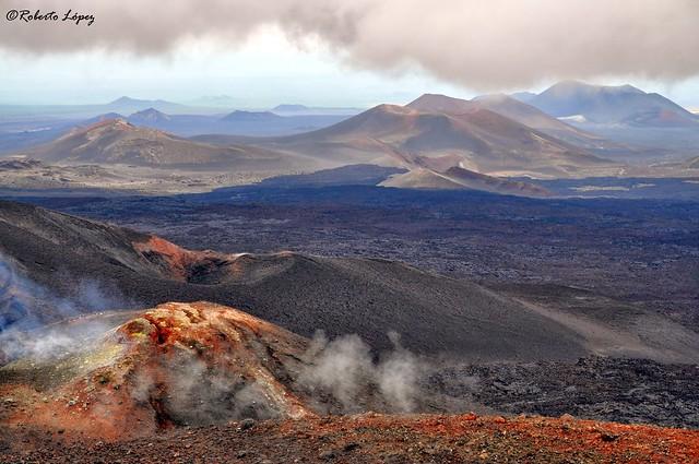 Paisajes volcánicos en Kamchatka