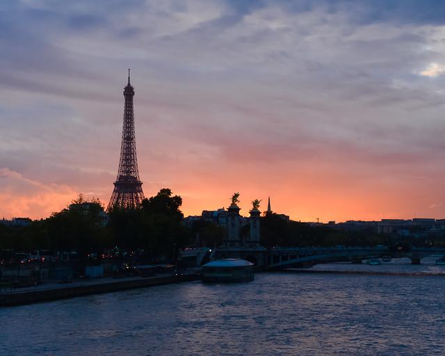 París desde el puente de la Concordia