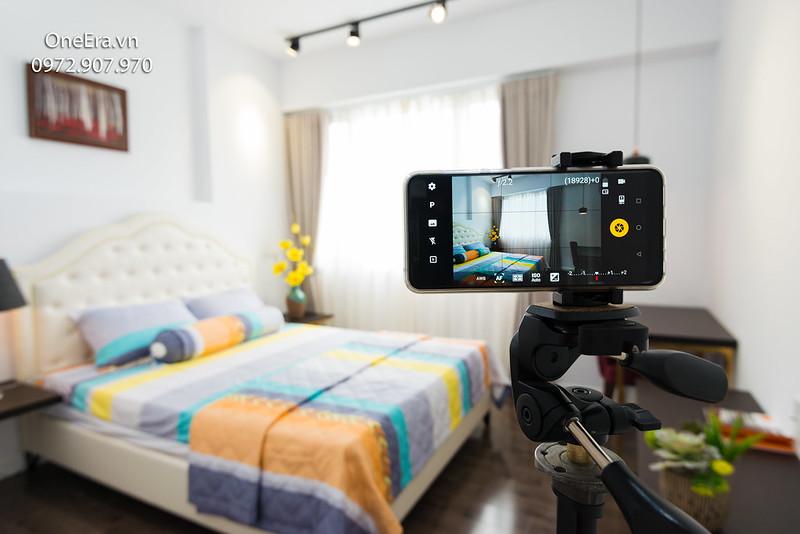Chụp ảnh căn hộ với điện thoại Smartphone