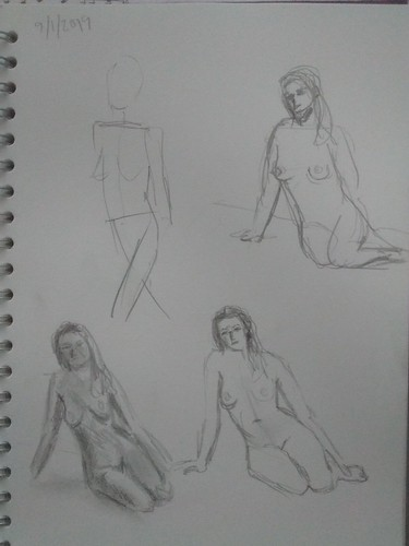 My first life sketches for quite a long time