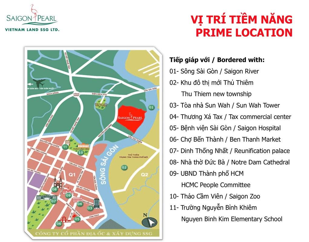 Vị trí dự án Saigon Pearl