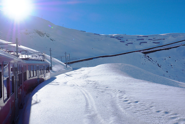 Train to Gornegrat, Zermatt, Switzerland