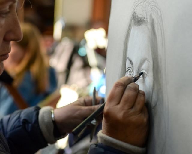 Pintores de París en la famosa Place du Tertre