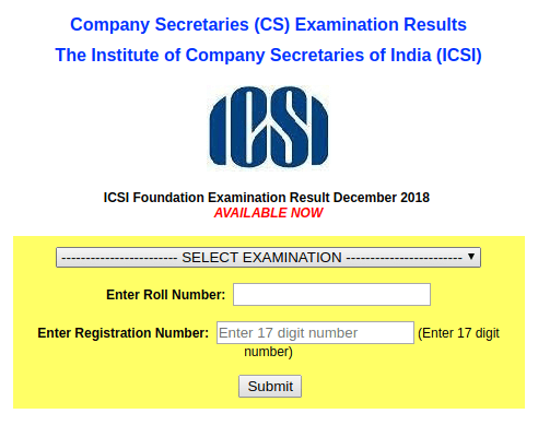 CS Foundation Result 2018