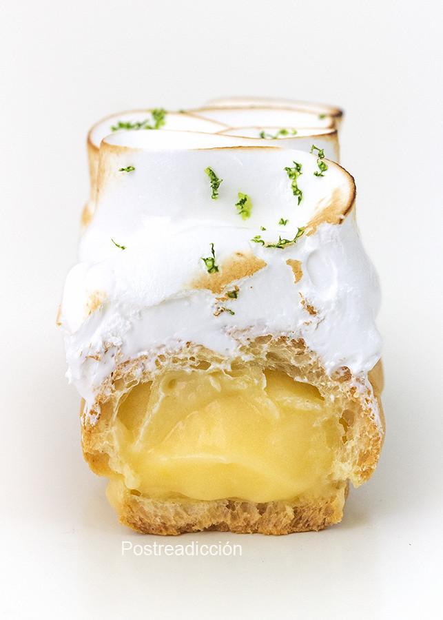 éclairs de limón y merengue