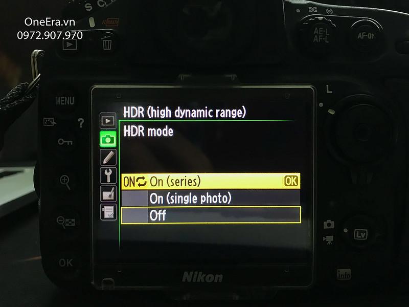Chọn On trong HDR mode