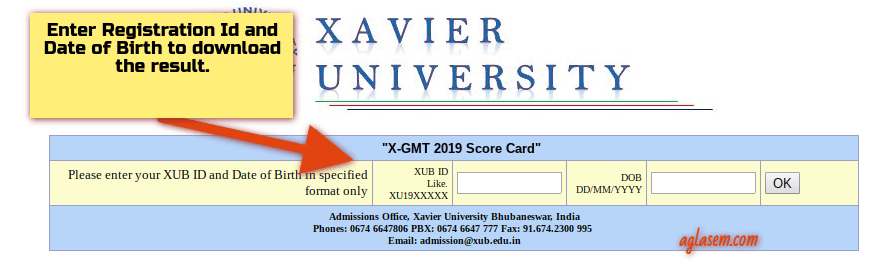 XGMT 2019 Result Available