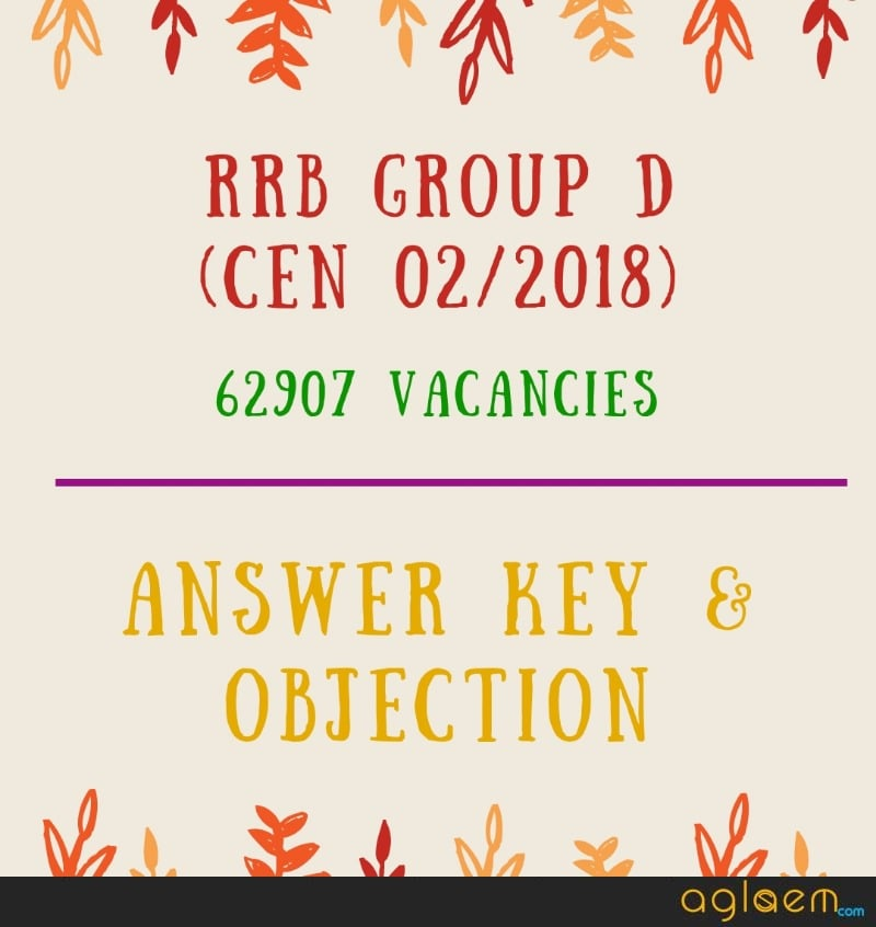 RRB Group D Answer Key 2018 [Final] - Download Here Railway Group D 2019 Answer Key