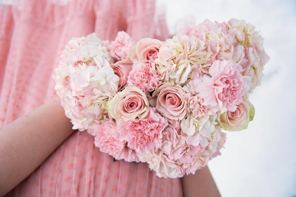 pink valentine bouquet