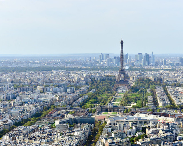 Vistas de París desde la torre Montparnasse