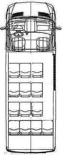 メルセデスベンツ スプリンター (Mercedes-Benz Sprinter) の座席図