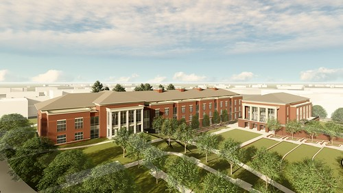 A rendering of new academic classroom and laboratory complex and campus dining facility