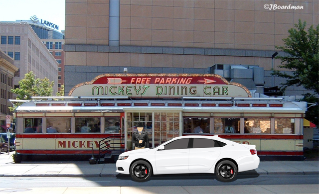 Simpson stopped at Mickey's Diner in Saint Paul