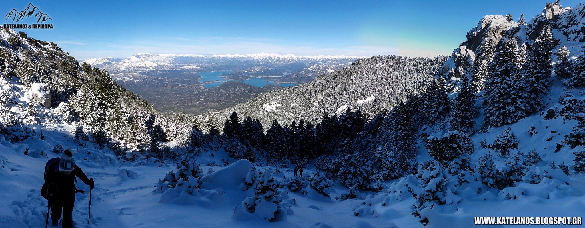 προφητης ηλιας ανω αγιου βλασιου παναιτωλικο ορος χειμερινη αναβαση