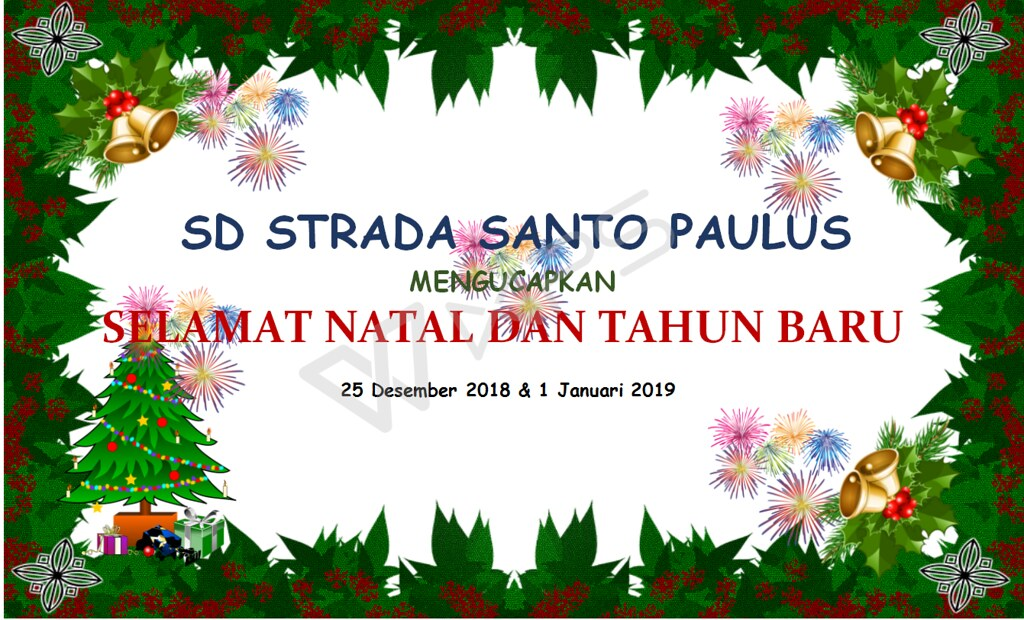 Perayaan Natal 2018 dan Tahun Baru 2019