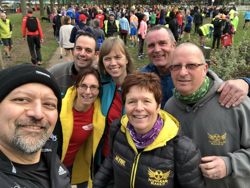 Great Notley parkrunners amongst the 800+ parkrunners of Chelmsford Central