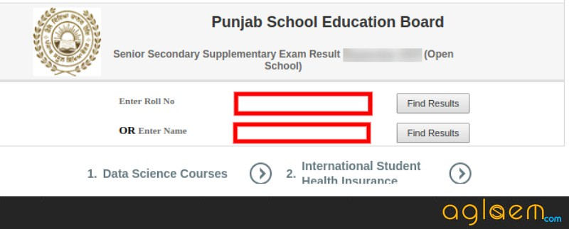 Punjab Open 12th Result March 2019