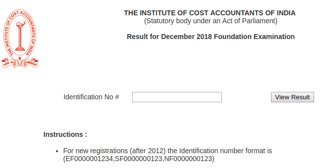 ICMAI Result 2019 (Out) - Check Here for Foundation, Inter