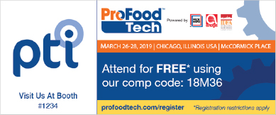 Visit Us At Booth #1234 at ProFood Tech  |  Attend for FREE using our comp code: 18M36