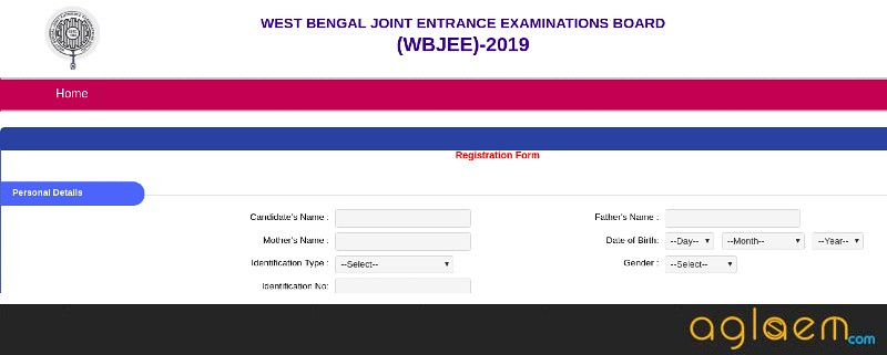 WBJEE Application Form Personal Details