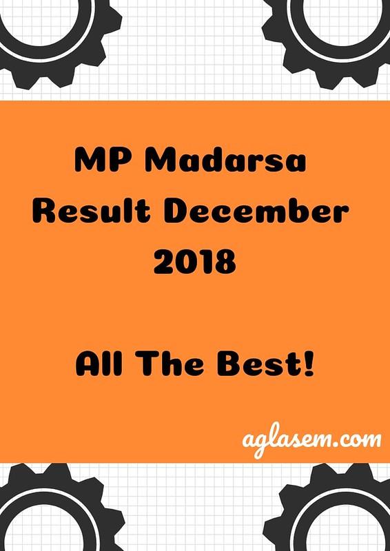 MP Madarsa 12th Result December 2018