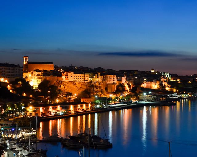 Ciudadela de Menorca al atardecer