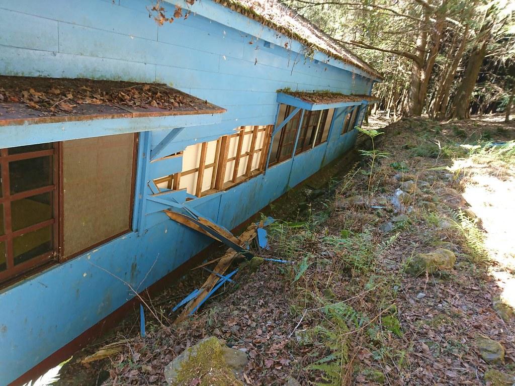 2/17玉管處人員發現黑熊入侵楠溪保育研究站造成之破壞痕跡(圖片來源:玉管處提供)