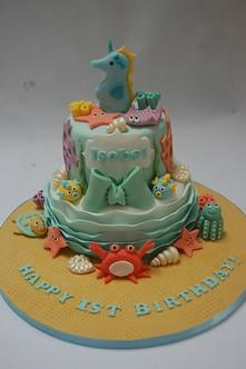 Groovy Under The Sea Birthday Cake Beautiful Birthday Cakes Funny Birthday Cards Online Eattedamsfinfo
