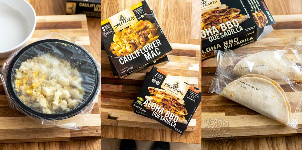 Today, I'm giving new Sweet Earth Foods frozen entrees a try! Let's see how their convenient Aloha BBQ Quesadilla, and vegan Cauliflower Mac score. #vegan #sweetearthfoods #nutfree #convenient #veganreview
