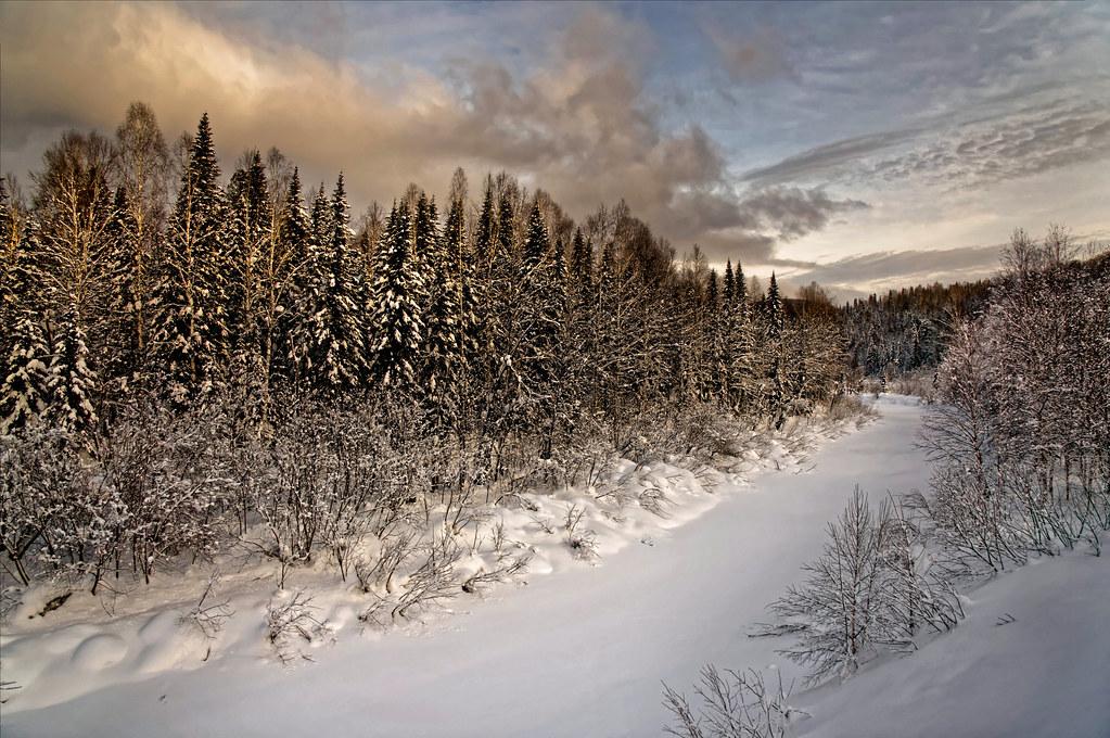 Закат перед снегопадом
