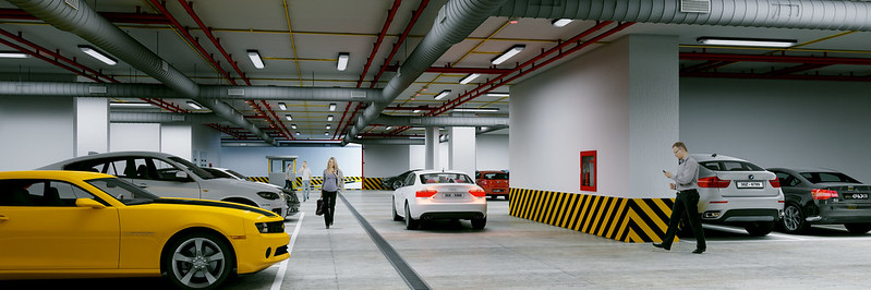 hầm xe rộng rãi