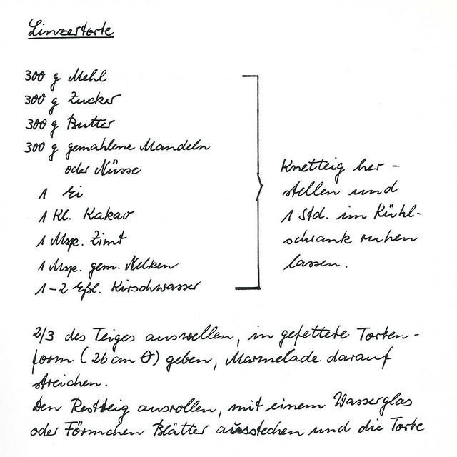 Linzertorte ... Pfälzer Landfrauen-Rezept