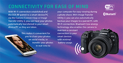 Ease of connectivity with the Canon EOS RP.