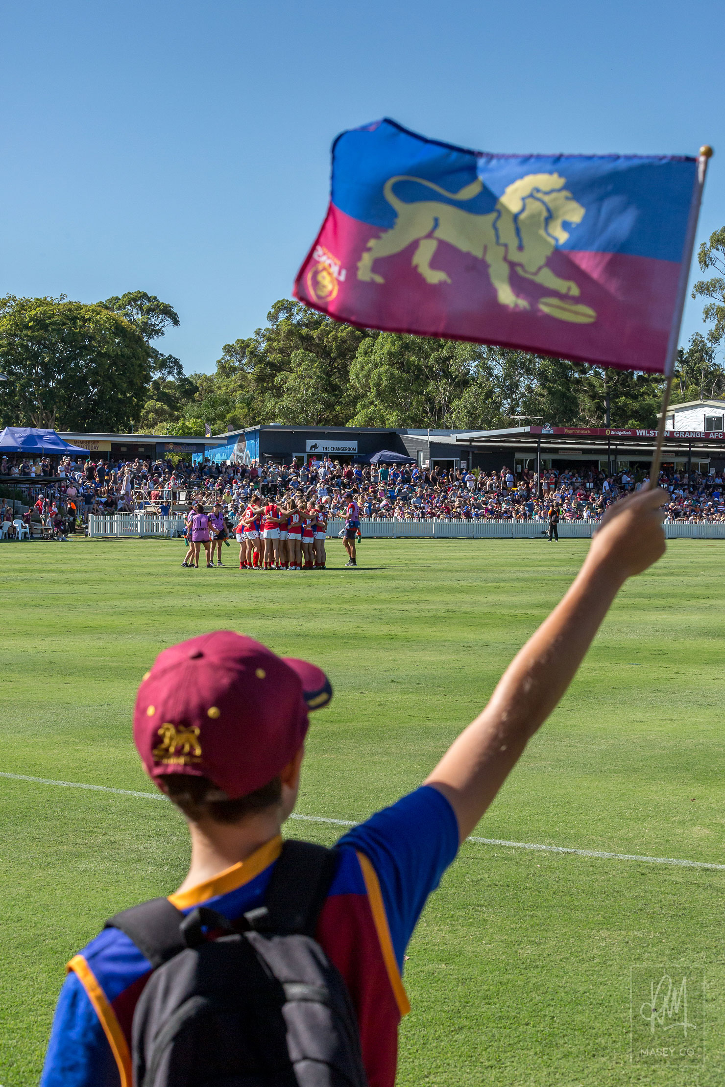 Plenty of young fans on the sidelines for the Round 3 clash